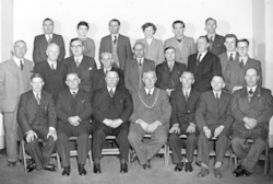 Vaynor and Penderyn Council staff, 1954